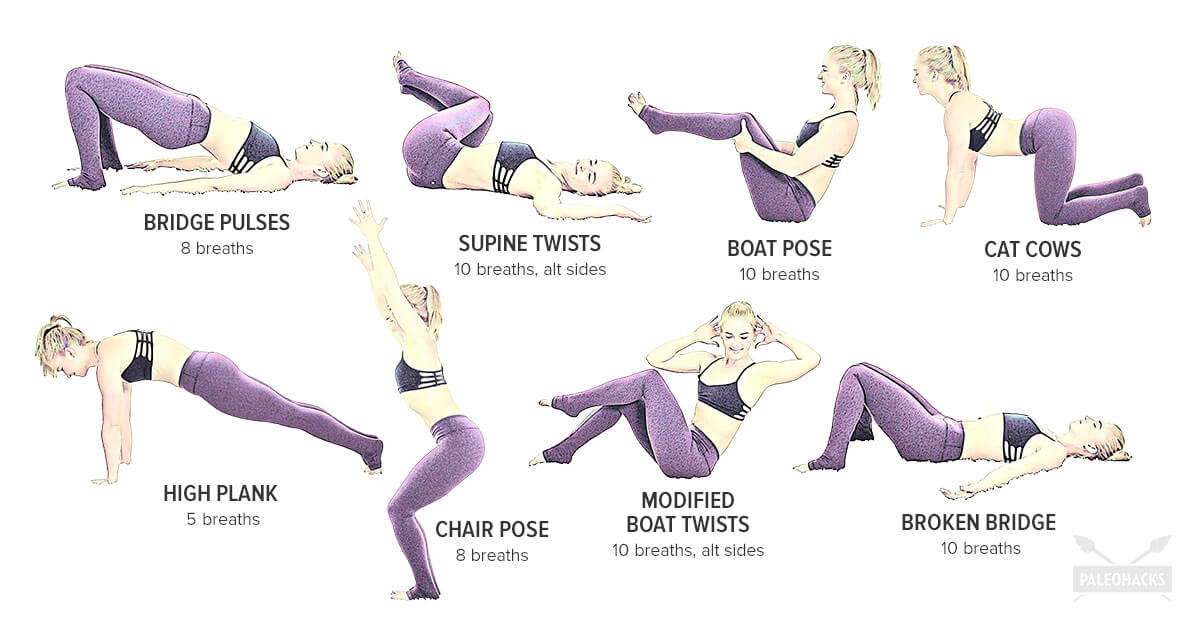 Yoga Workout For Strong Toned Abs