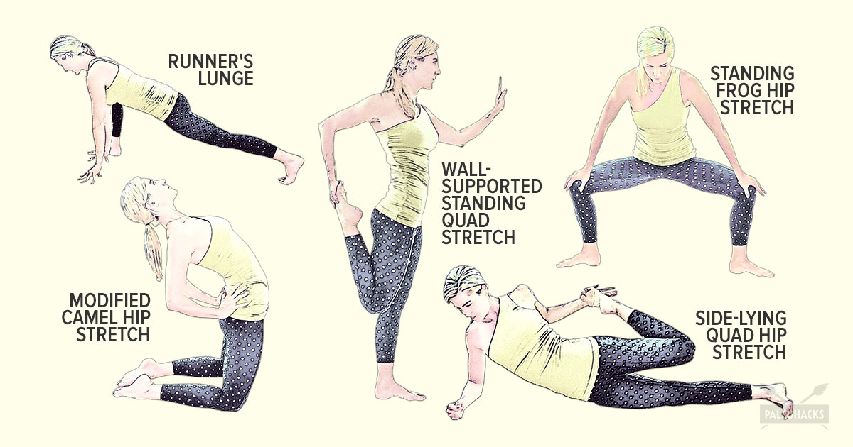simple hip stretches